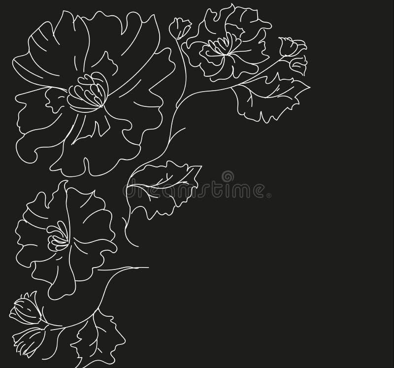 Verzierung von Blumen für ein Loch stockbild