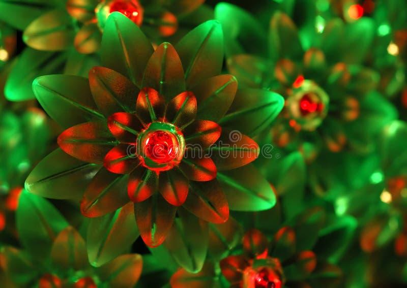 Verzierungen der grünen und roten Leuchte - Hintergrund lizenzfreie stockfotos