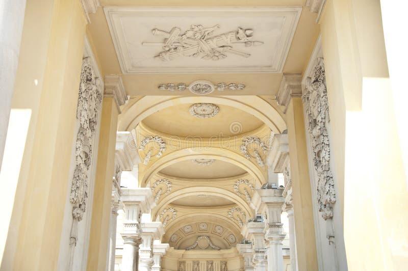 Verzierungen vom Schonbrunn-Palast Gloriette in Wien stockfoto