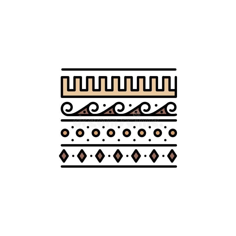 Verzierungsikone Element von Farbaltes Griechenland-Ikone für mobile Konzept und Netz Apps Farbige Verzierungsikone kann für das  vektor abbildung