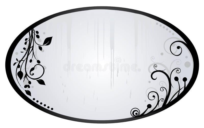 Verzilver spiegel royalty-vrije illustratie