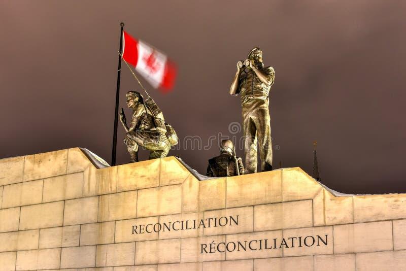 Verzoening: Het Behoud van de vredemonument - Ottawa - Canada royalty-vrije stock afbeelding
