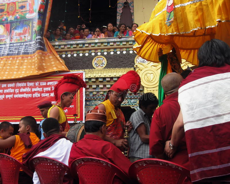 Vesak Buddhist Religious Holiday Kathmandu Nepal royalty free stock photography