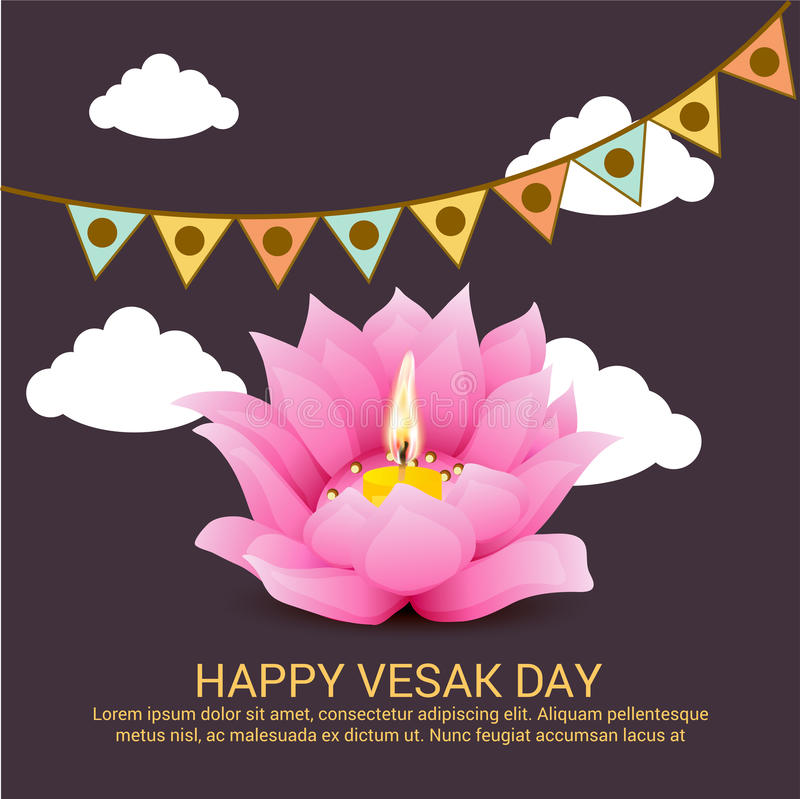 Vesak feliz ilustración del vector