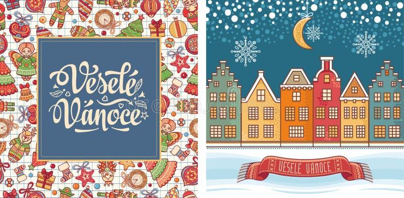 Vesele Vanoce Czescy tekstów szczęśliwych świąt bożego narodzenia zdjęcia royalty free