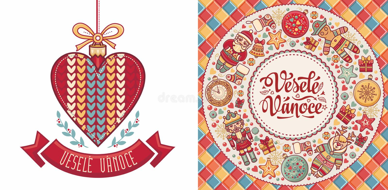 Vesele Vanoce Czescy tekstów szczęśliwych świąt bożego narodzenia fotografia stock