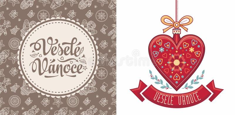 Vesele Vanoce Czescy tekstów szczęśliwych świąt bożego narodzenia obrazy stock