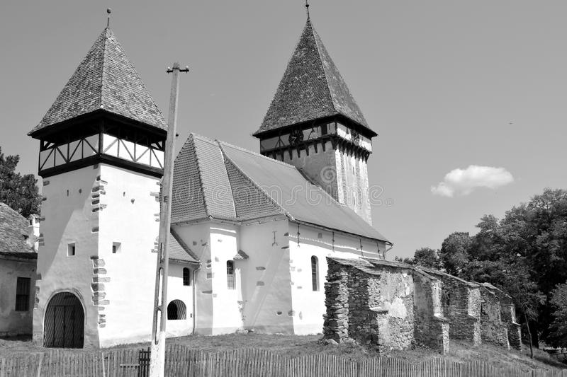 Fortified medieval saxon church in Veseud, Zied, is a village in the commune Chirpăr from Sibiu County. Veseud, Zied, a village in the commune Chirpăr from royalty free stock image