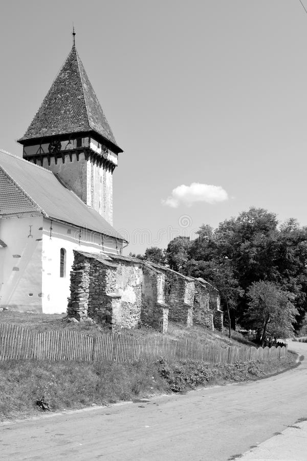 Fortified medieval saxon church in Veseud, Zied, is a village in the commune Chirpăr from Sibiu County. Veseud, Zied, a village in the commune Chirpăr from stock photo