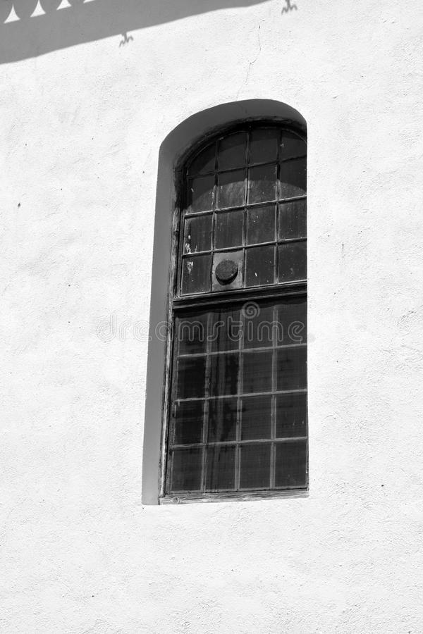 Window. Fortified medieval saxon church in Veseud, Zied, is a village in the commune Chirpăr from Sibiu County. Veseud, Zied, a village in the commune Chirp royalty free stock photography