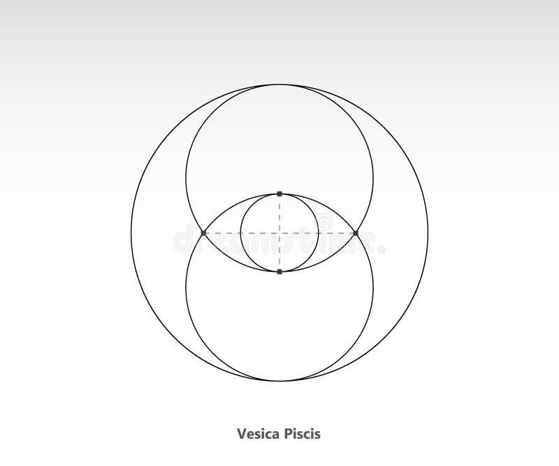 Vesica εικονίδιο piscis ελεύθερη απεικόνιση δικαιώματος