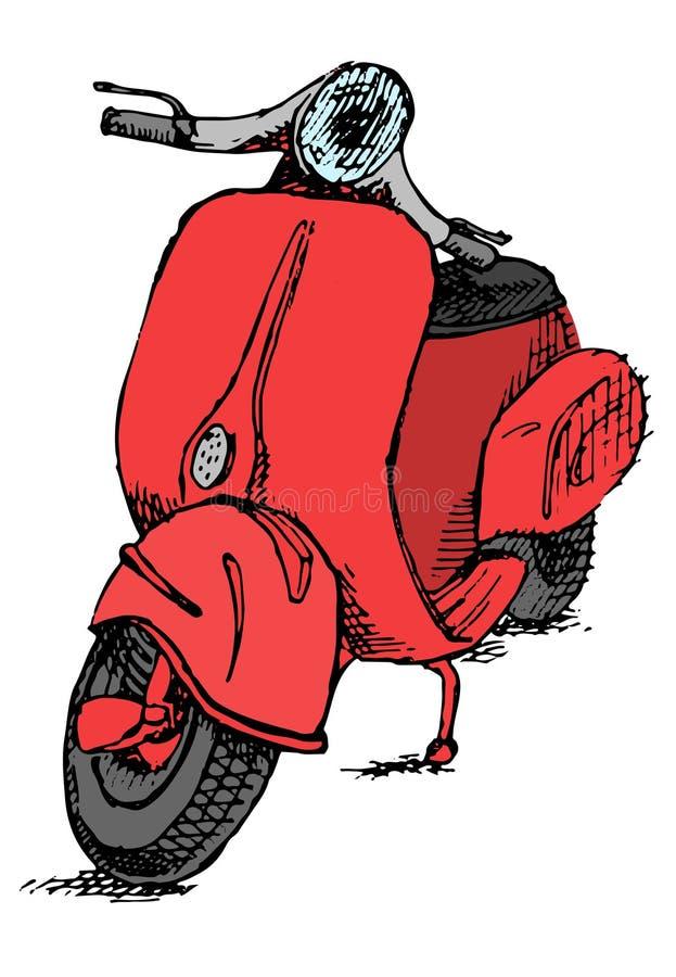 Vespa de la moto de la vespa libre illustration