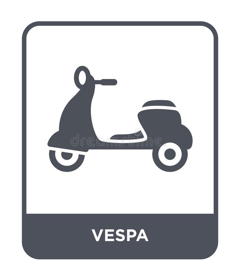 vespa icon in trendy design style. vespa icon isolated on white background. vespa vector icon simple and modern flat symbol for royalty free illustration