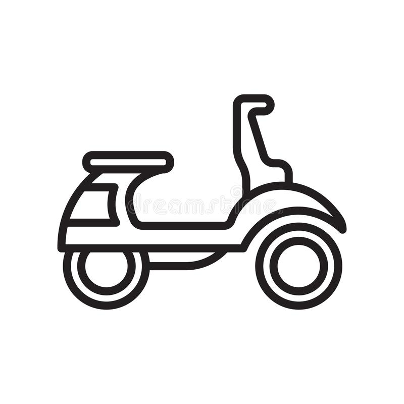 Vespa icon vector sign and symbol isolated on white background stock illustration