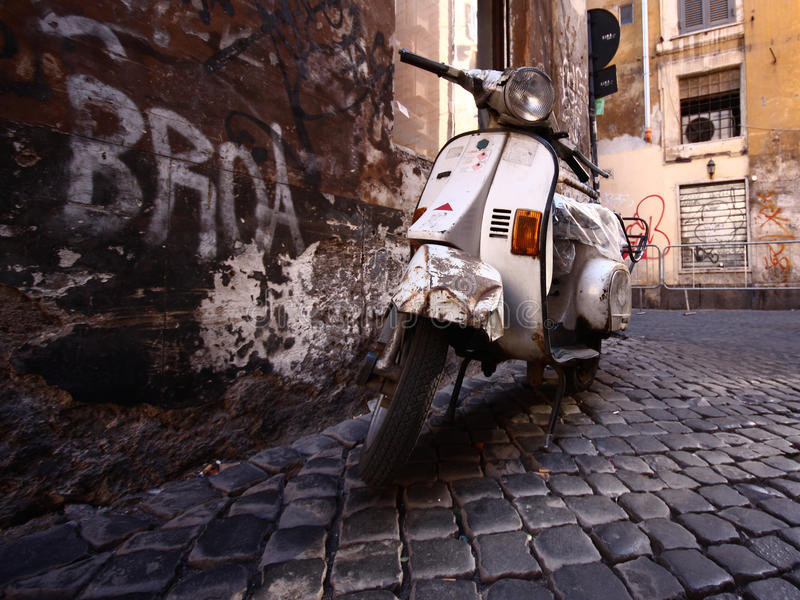 Vespa. An photo of an old vespa royalty free stock photo