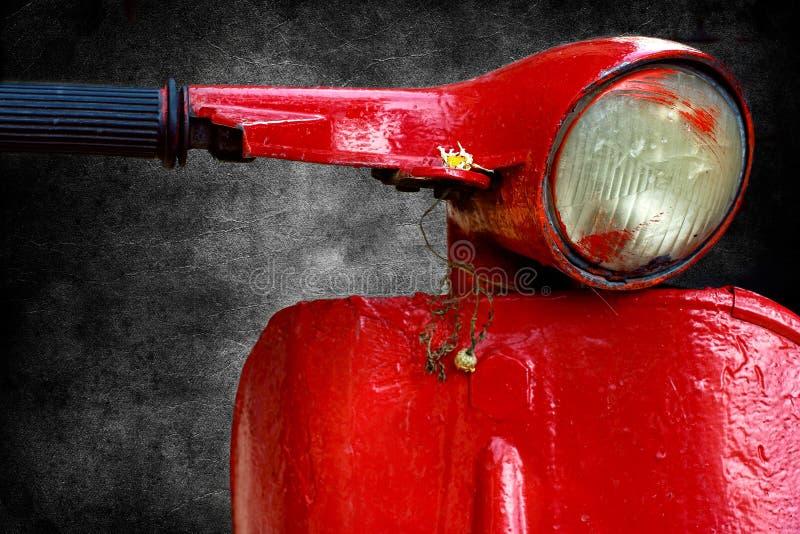 Vespa rosso fotografia stock libera da diritti