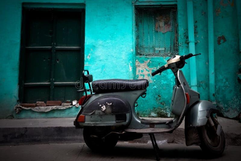 A Vespa scooter of Amritsar, Punjab, India royalty free stock images