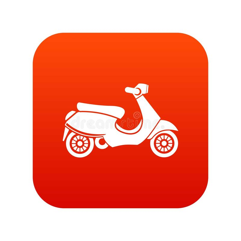 Vespa scooter icon digital red royalty free illustration