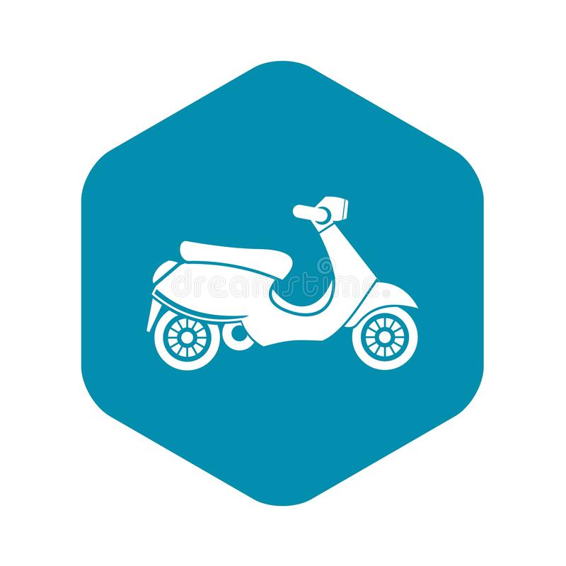 Vespa scooter icon, simple style. Vespa scooter icon. Simple illustration of scooter vector icon for web royalty free illustration