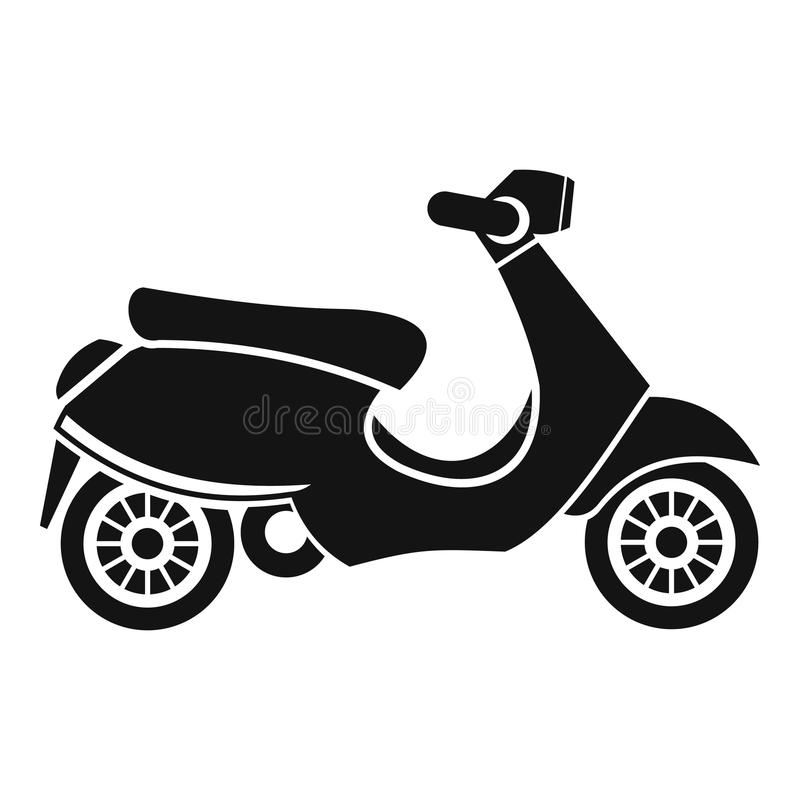 Vespa scooter icon, simple style. Vespa scooter icon. Simple illustration of scooter icon for web royalty free illustration