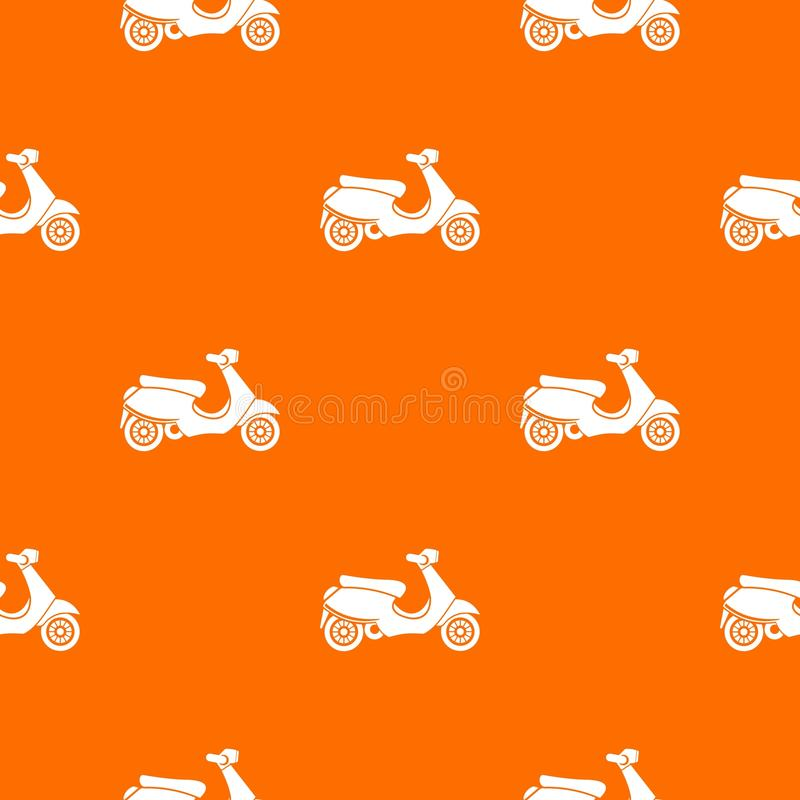 Vespa scooter pattern seamless royalty free illustration