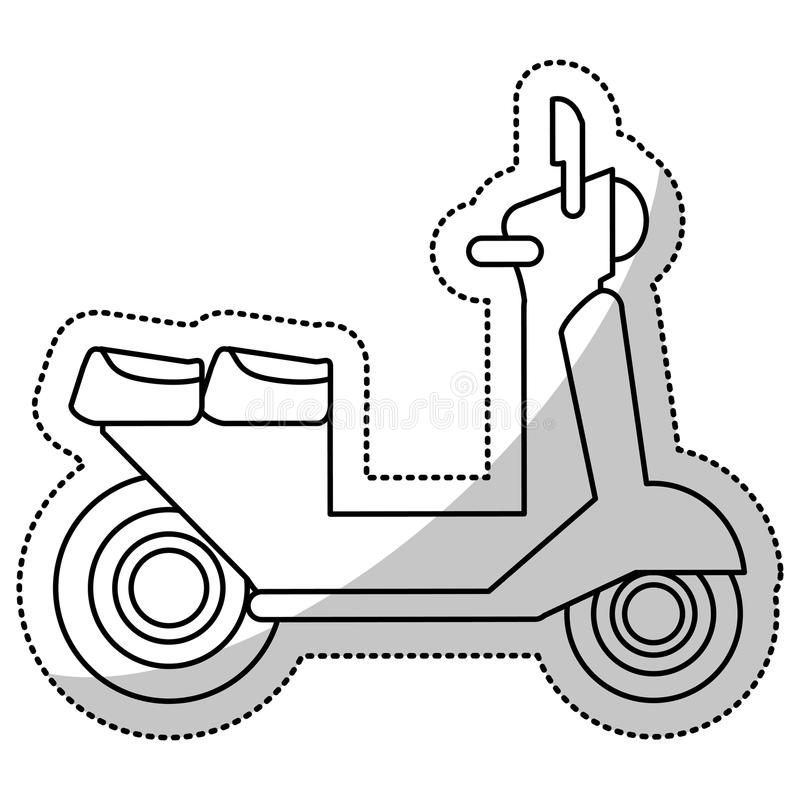 vespa scooter transport delivery cut line royalty free illustration