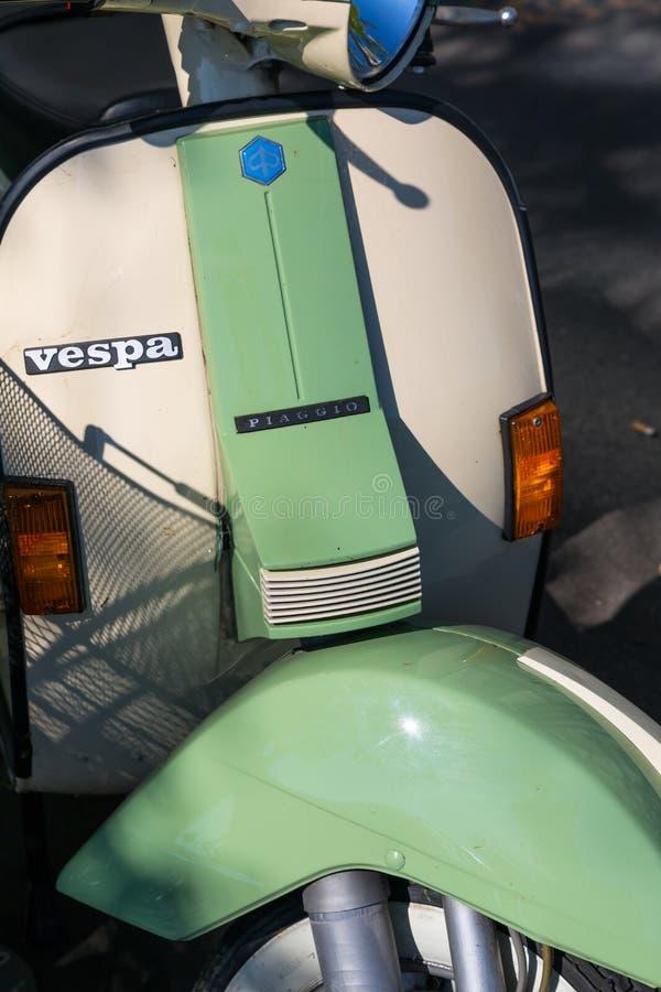 Vespa Scooter royalty free stock photo