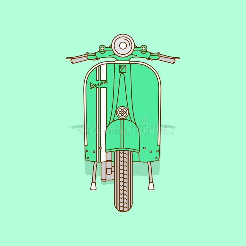 Vespa super icon. Icon vespa calssic super vector for your brand royalty free illustration