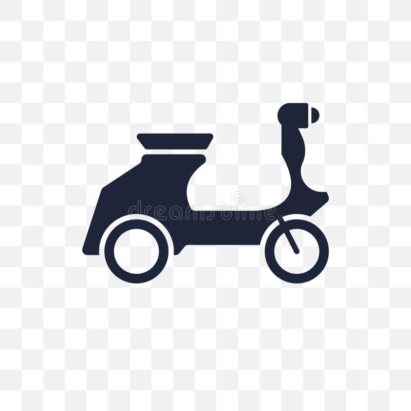 Vespa transparent icon. Vespa symbol design from Transportation. Collection royalty free illustration