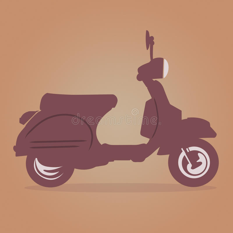 Vespa Vintage vector. Illustrations of retro italian scooter + vector eps file royalty free illustration