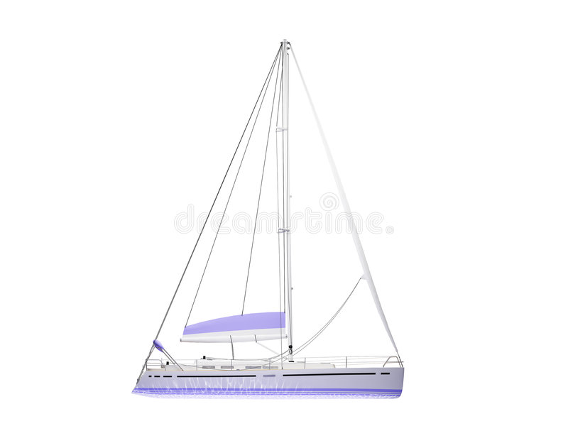 Download Vessel Boat Isolated Side View Stock Illustration - Illustration: 3524989