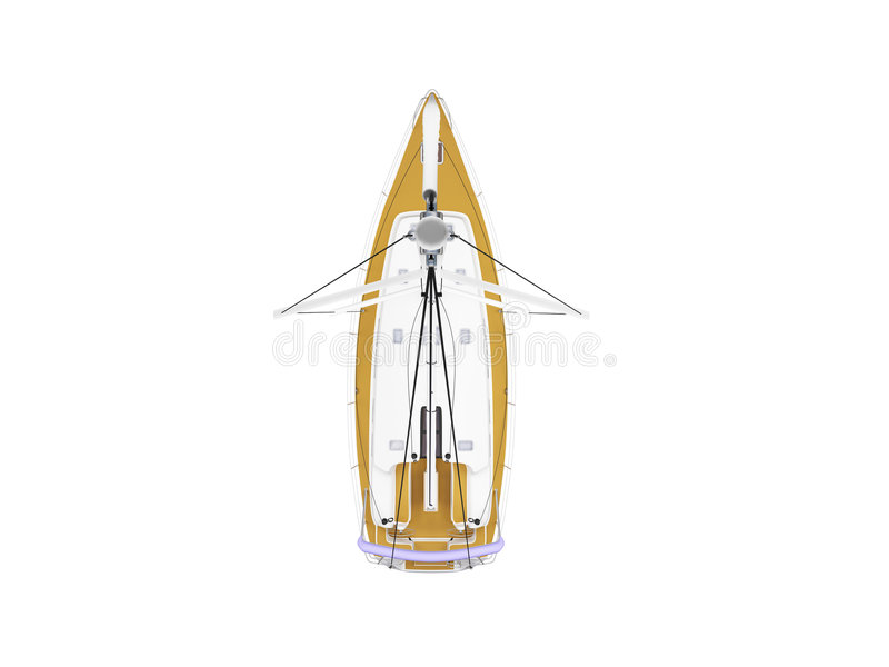 Download Vessel Boat Isolated Top View Stock Illustration - Image: 3524993