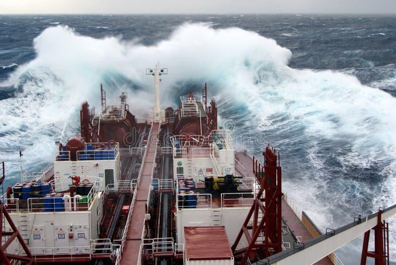 Download Vessel in heavy seas stock image. Image of power, seas - 19951503