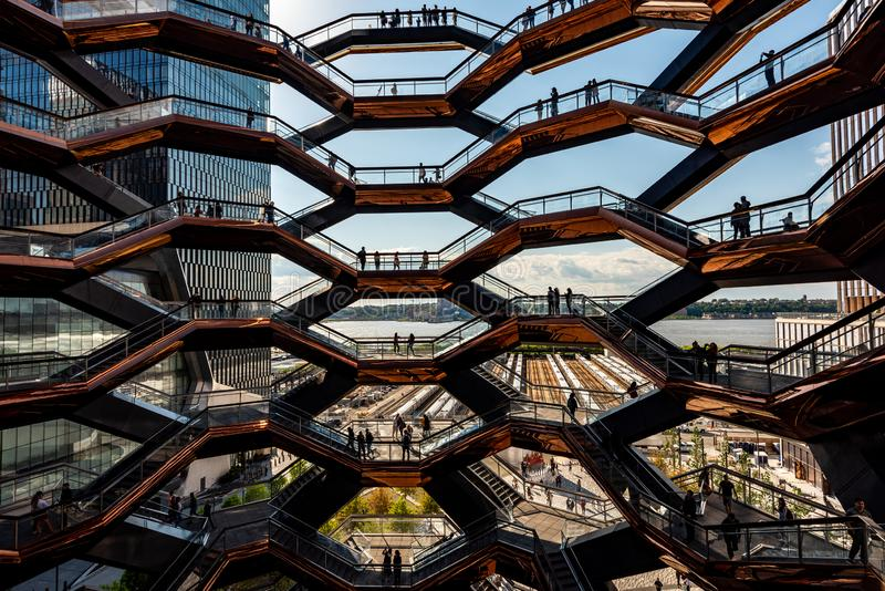 The Vessel in Hudson Yards, New York, NY, USA royalty free stock photo