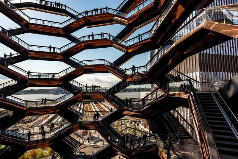 The Vessel in Hudson Yards, New York, NY, USA royalty free stock photography