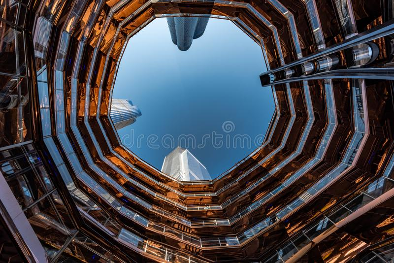 The Vessel in Hudson Yards, New York, NY, USA royalty free stock images