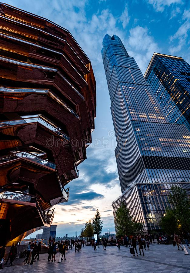 The Vessel in Hudson Yards, New York, NY, USA stock image