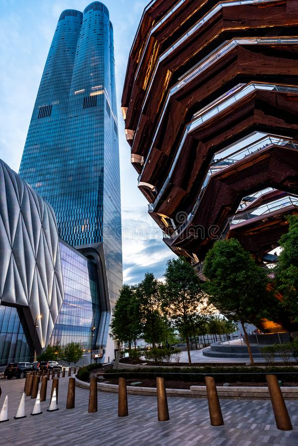 The Vessel in Hudson Yards, New York, NY, USA royalty free stock image