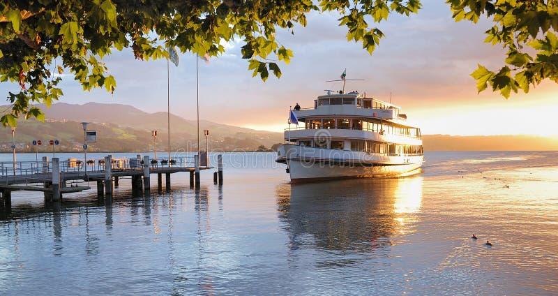 Vessel near pier royalty free stock photography