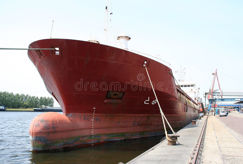 Vessel in port stock images