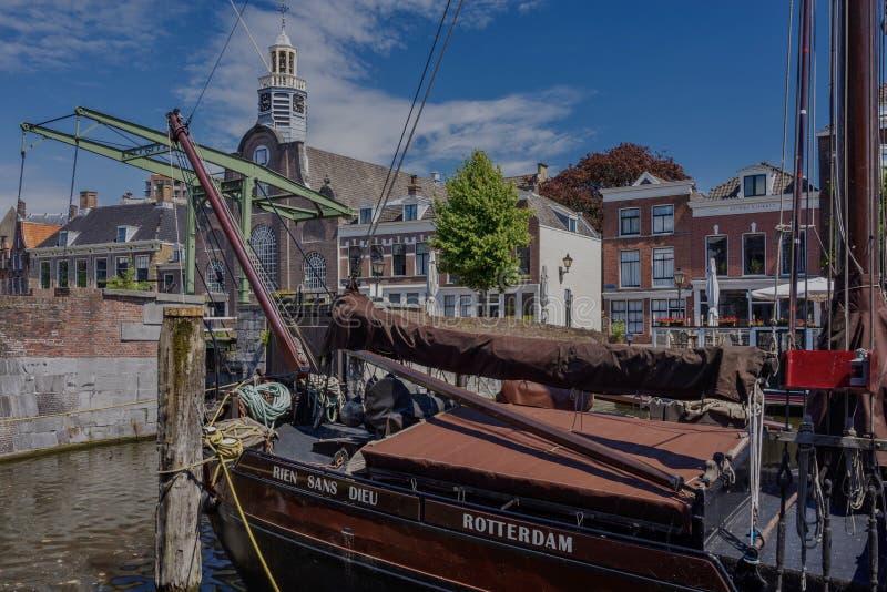 Vessel Rien Sans Dieu Delfshaven royalty free stock images