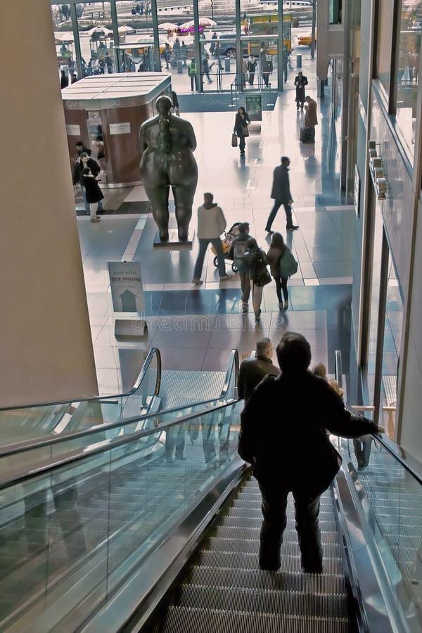 Vestíbulo Center New York City de Time Warner imagens de stock royalty free