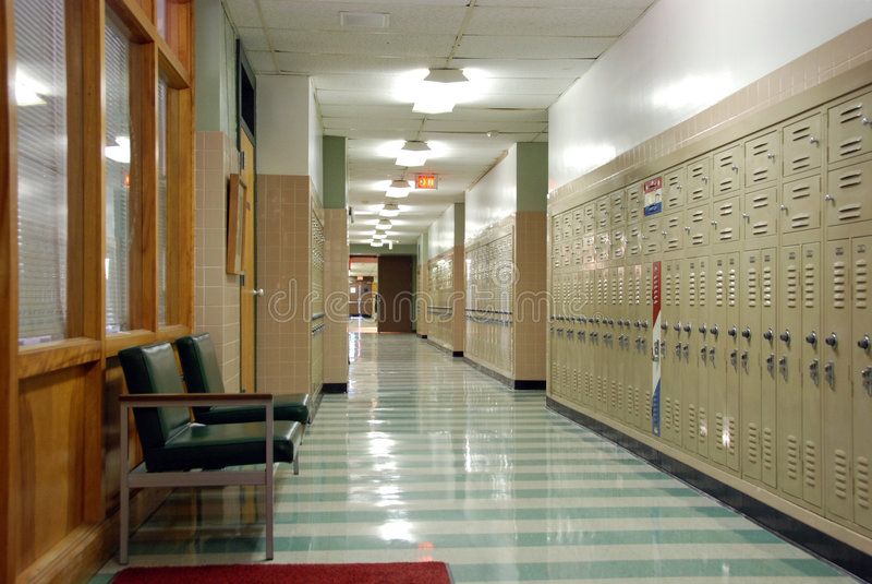Vestíbulo de la escuela de Hish imagen de archivo