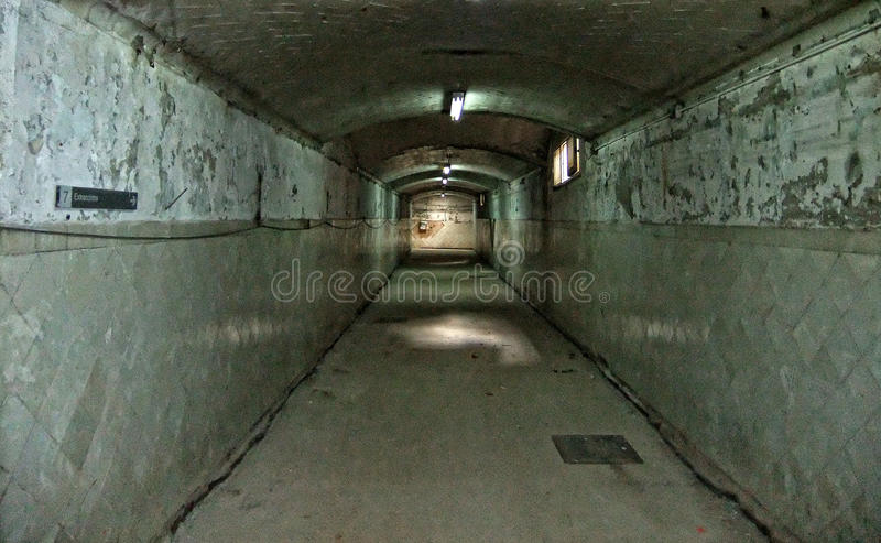 Vestíbulo decaído imagen de archivo