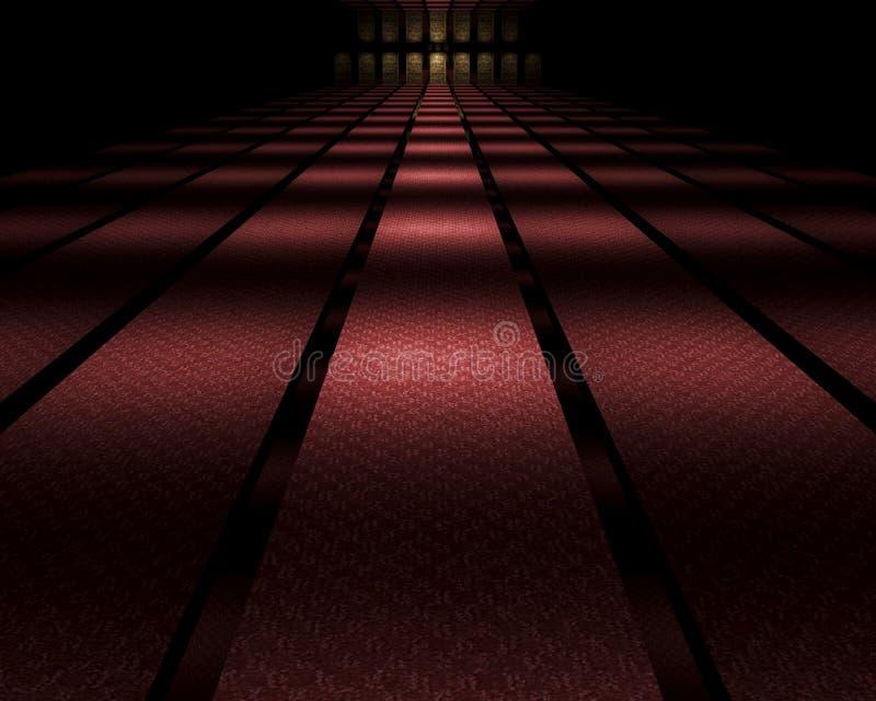 Vestíbulo duplicado oscuridad ilustración del vector