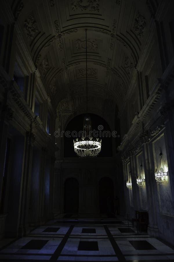 Vestíbulo en Amsterdam Royal Palace fotos de archivo libres de regalías