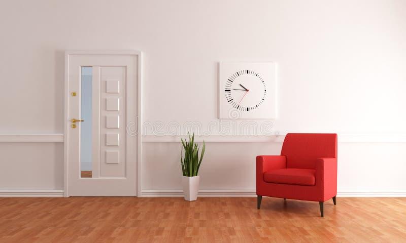Vestíbulo home minimalista da entrada ilustração stock