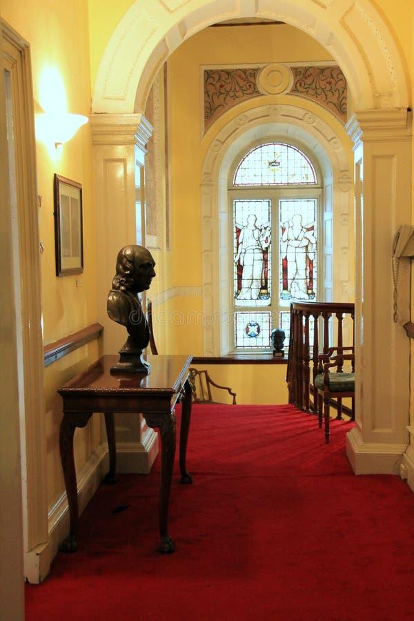 Vestíbulo superior, escritores museo, Dublín, Irlanda, octubre de 2014 foto de archivo libre de regalías
