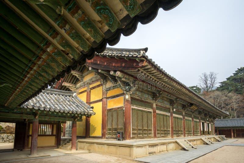 Vestíbulos de Museoljeon en templo del bulguksa fotos de archivo libres de regalías