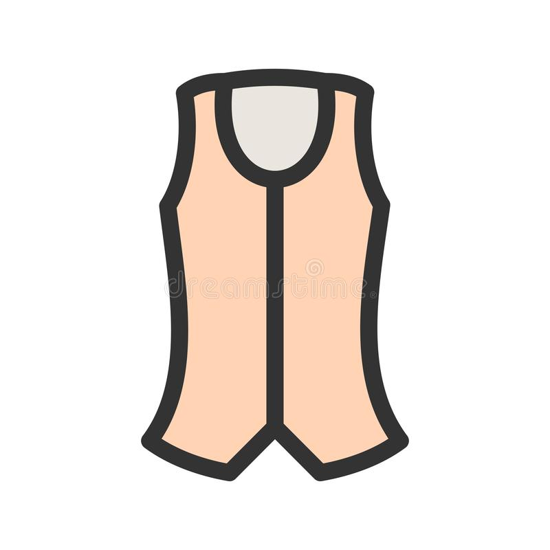 vest stock illustrationer